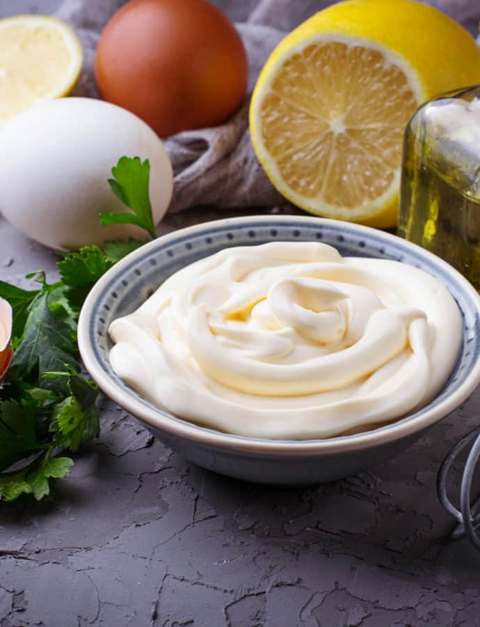Simple Homemade Olive Oil Mayonnaise
